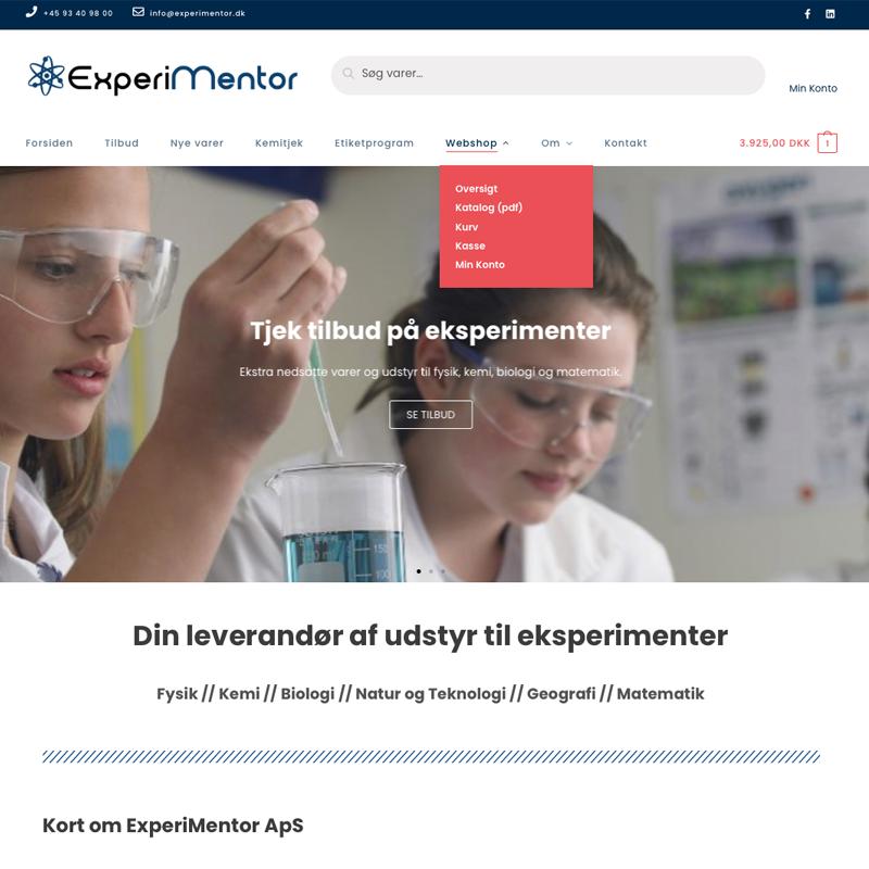 ExperiMentor.dks hjemmeside - Webrytterens referencer