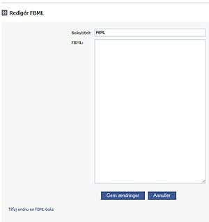 Tilføje indhold på din FBML-fane